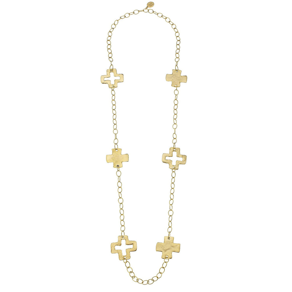Susan Shaw Cross Chain Necklace