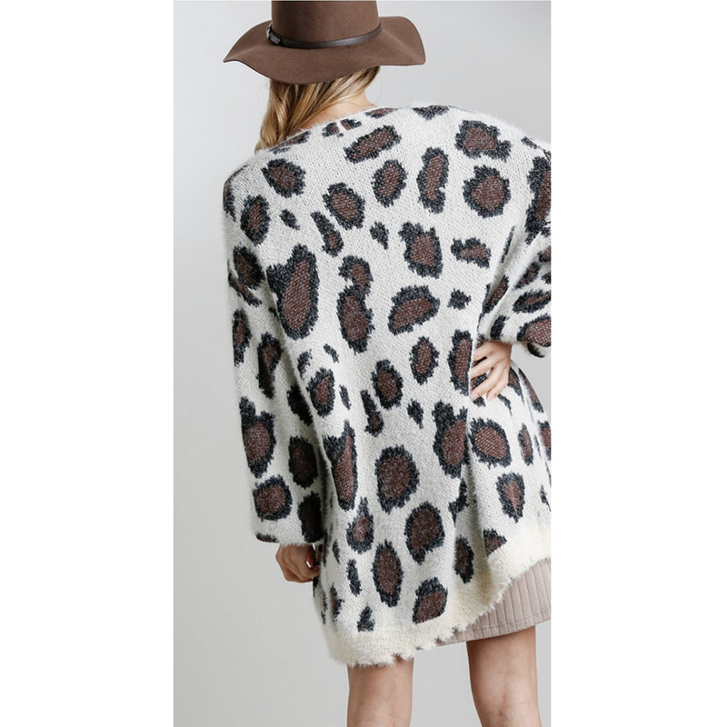 Wild Side Animal Print Cardigan