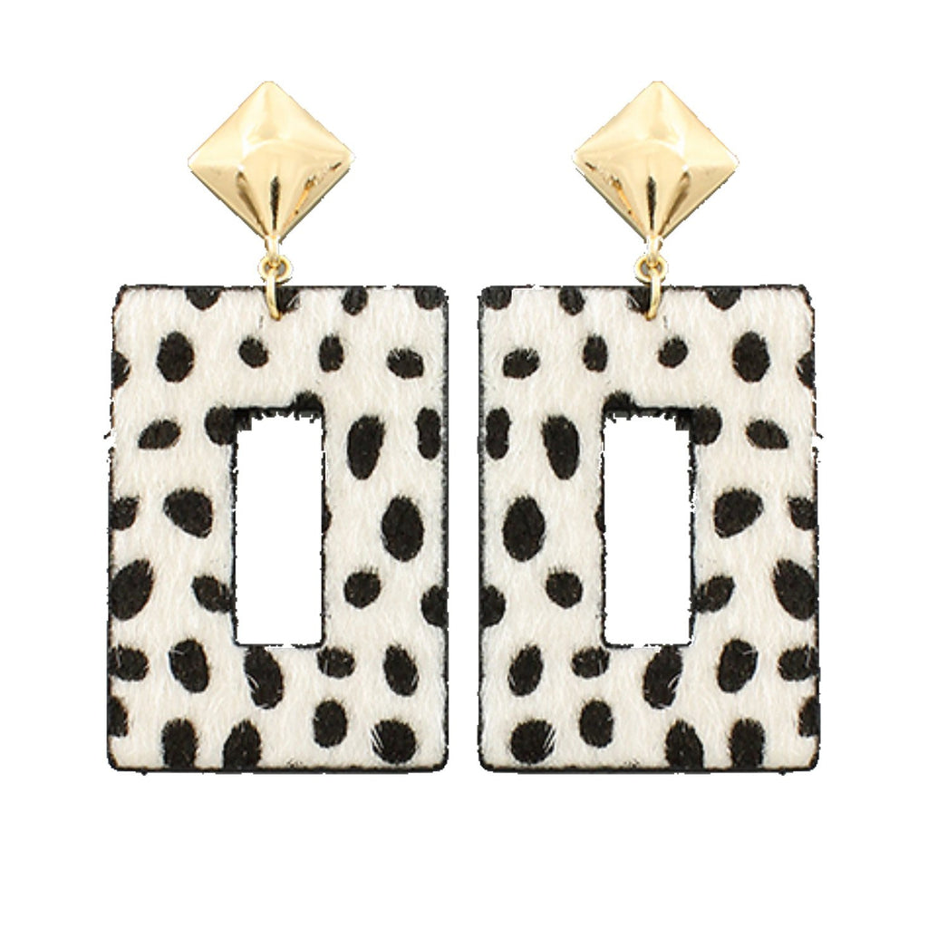 Cheetah Rectangle Earrings