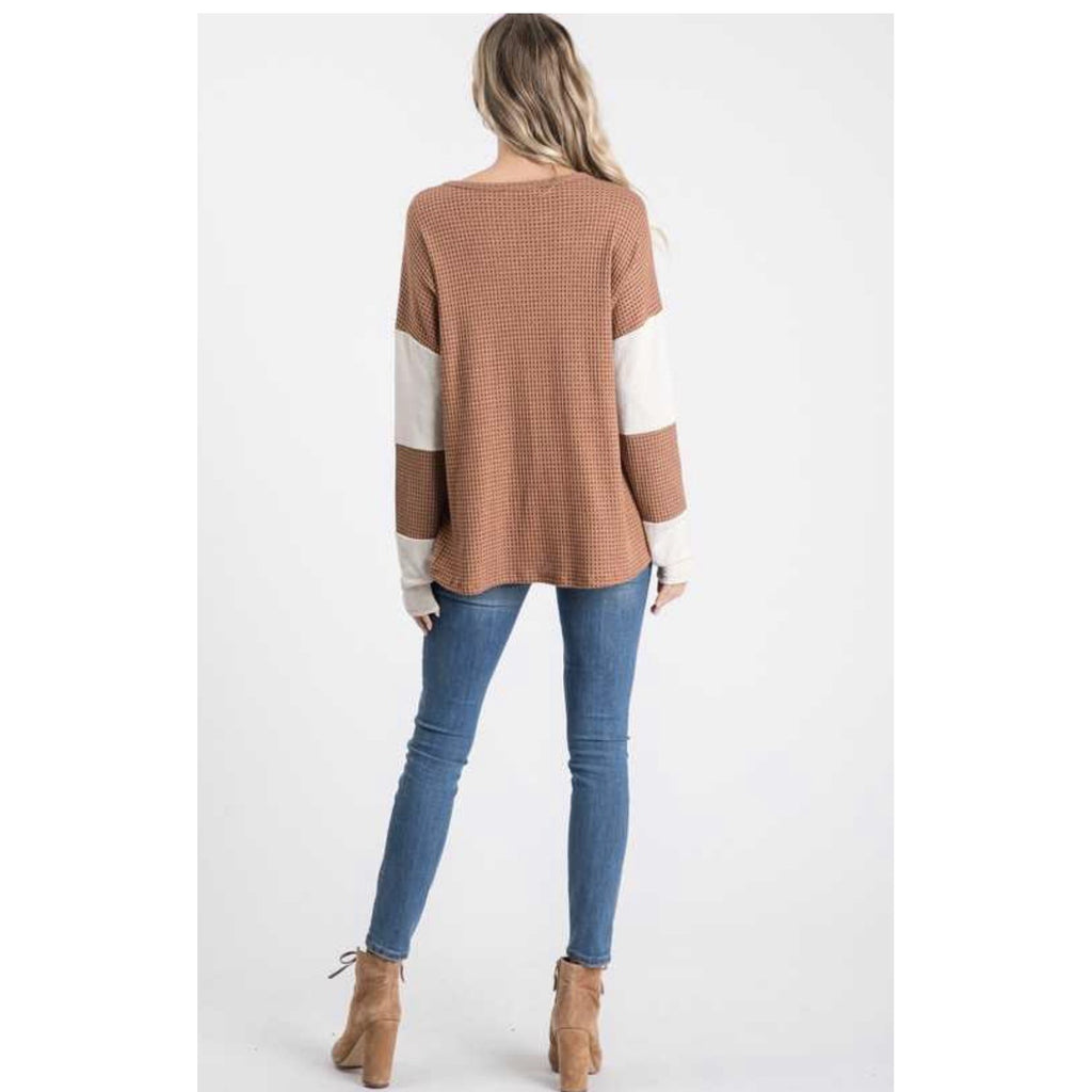 Textured Two Tone Top