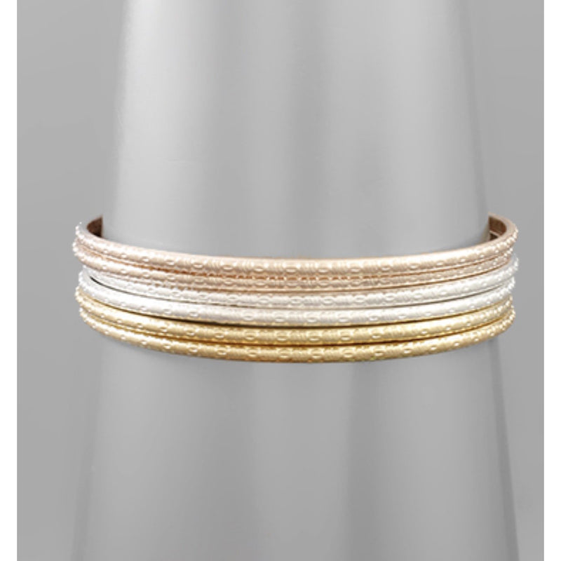 Textured Multi Bangles - Available in 2 Colors
