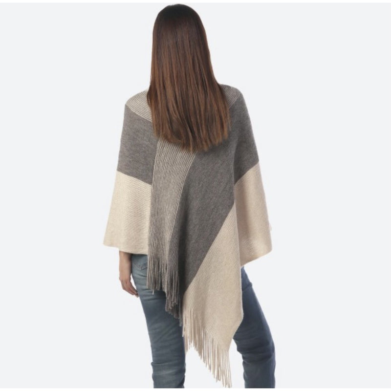 Grayson Wide Stripe Poncho