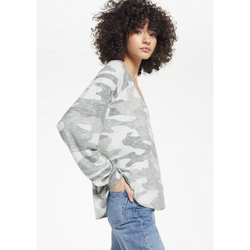 Pira Camo Slub Sweater