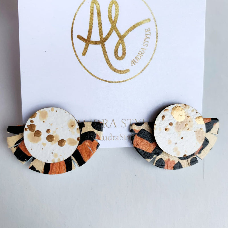 Audra Style - Stud Muffin White Gold Leopard