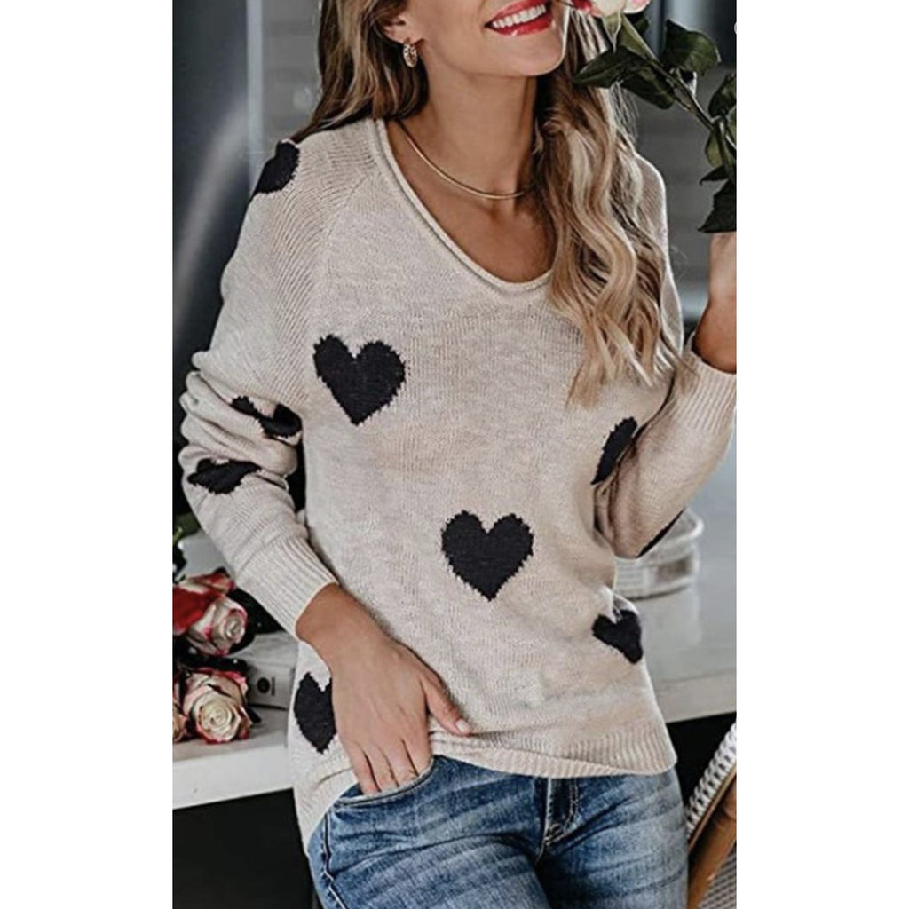Hearts Pullover Sweater