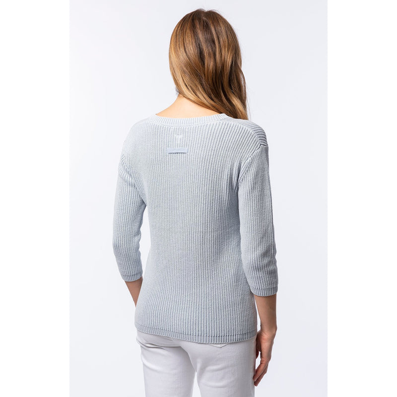Shaker Sweater - Mineral Washed  Sea Mist