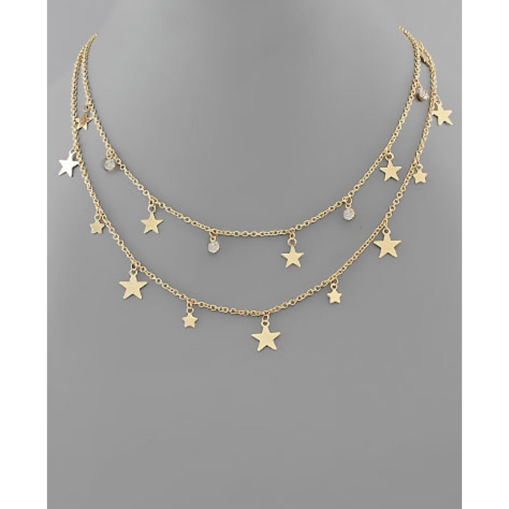 2 Row Star Layer Necklace