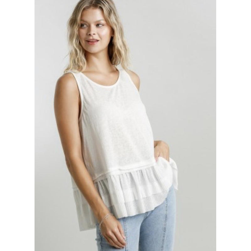 Layered Top With Raw Hem