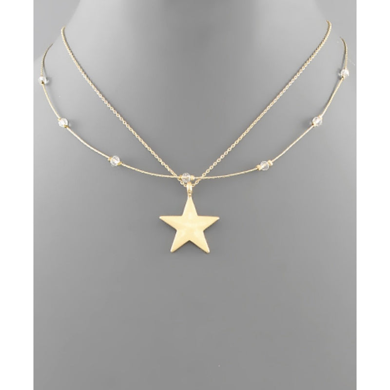 Star & Bead Layer Necklace