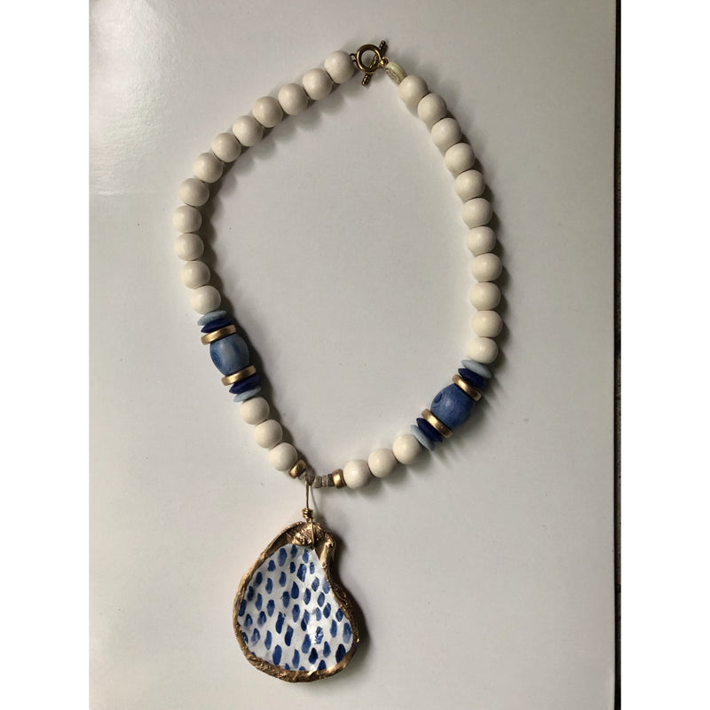 Anchor Beads - Oyster Shell Blue/Gold