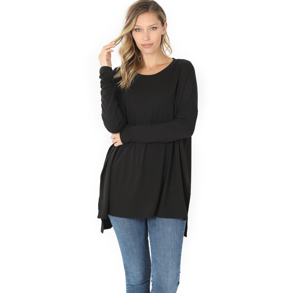Plain Jane Round Neck Top - Available in 3 Colors