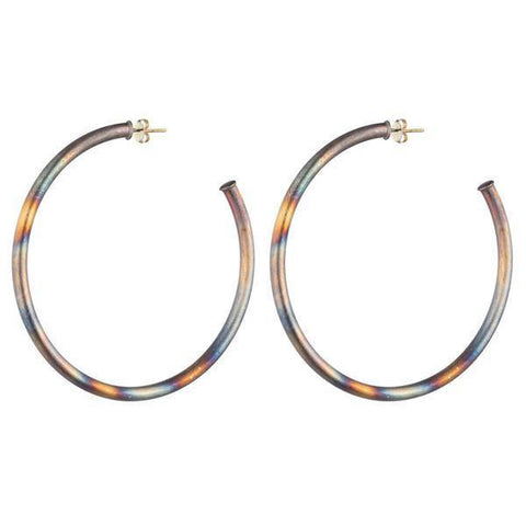 "Shelia Fajl Hoops 2"" Burnished Gold"