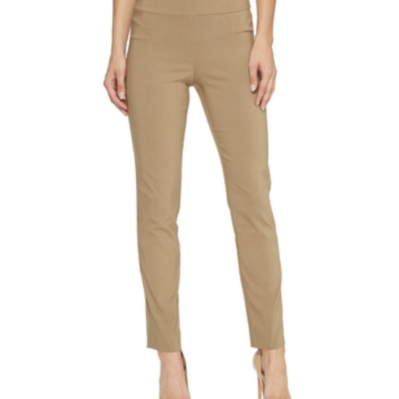 Krazy Larry Pull on Ankle Pants-Taupe