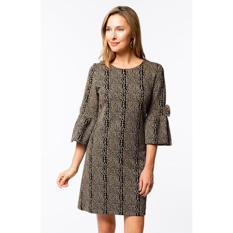 Jade Nancy Trumpet Sleeve Dress