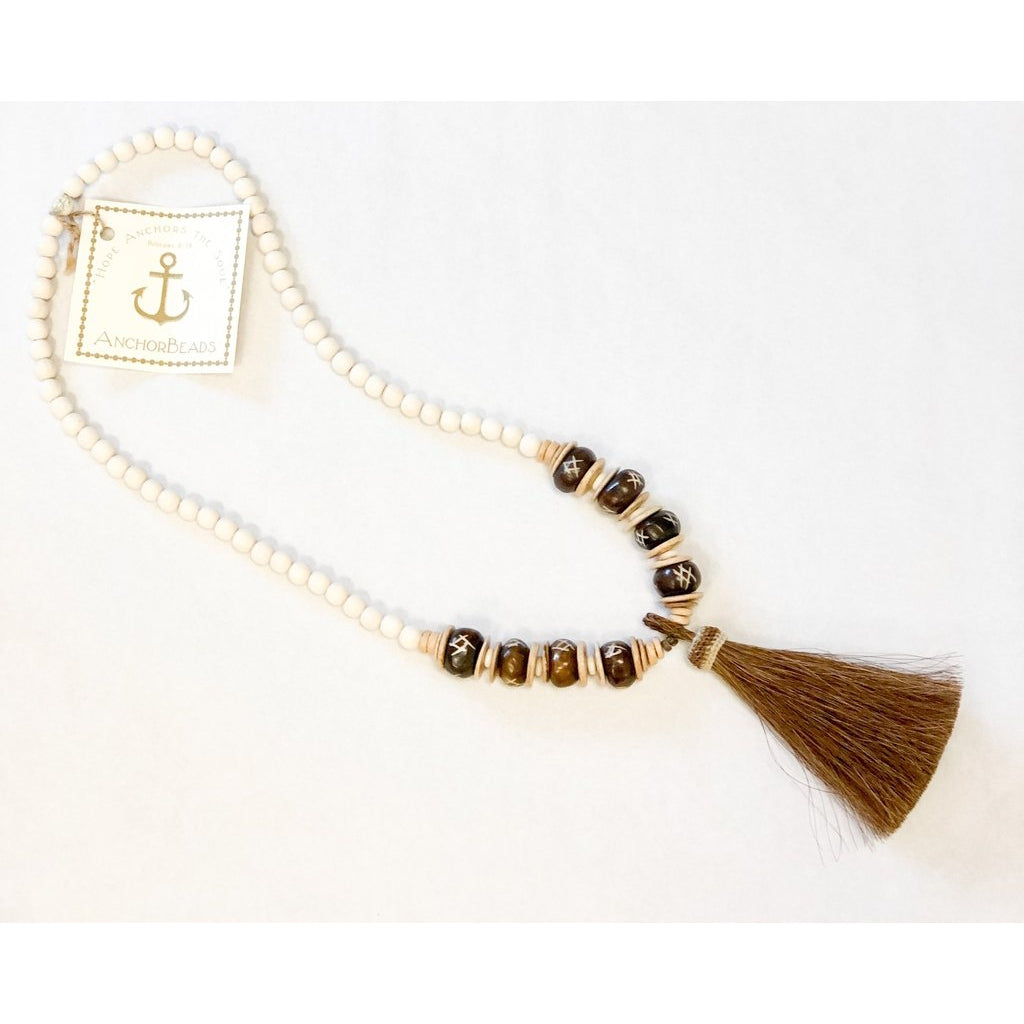 Horse Hair Tassel Necklace