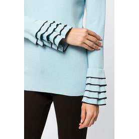 Tyler Boe Ruffle Sleeve Top