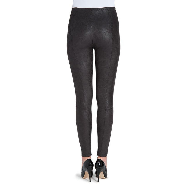 Lysee Black Buffed Suede Leggings