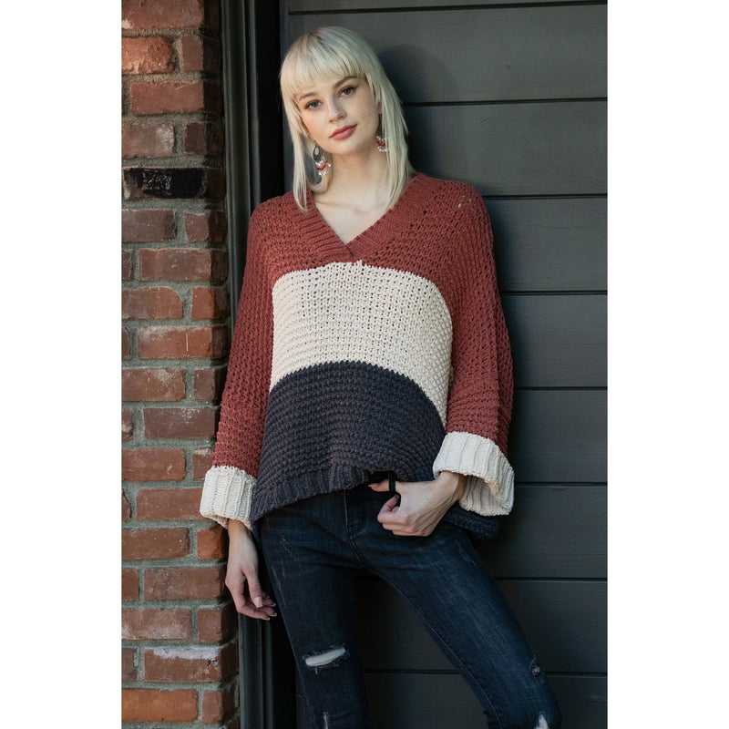 Everlasting Stripe Chenille Sweater-Ginger Rose