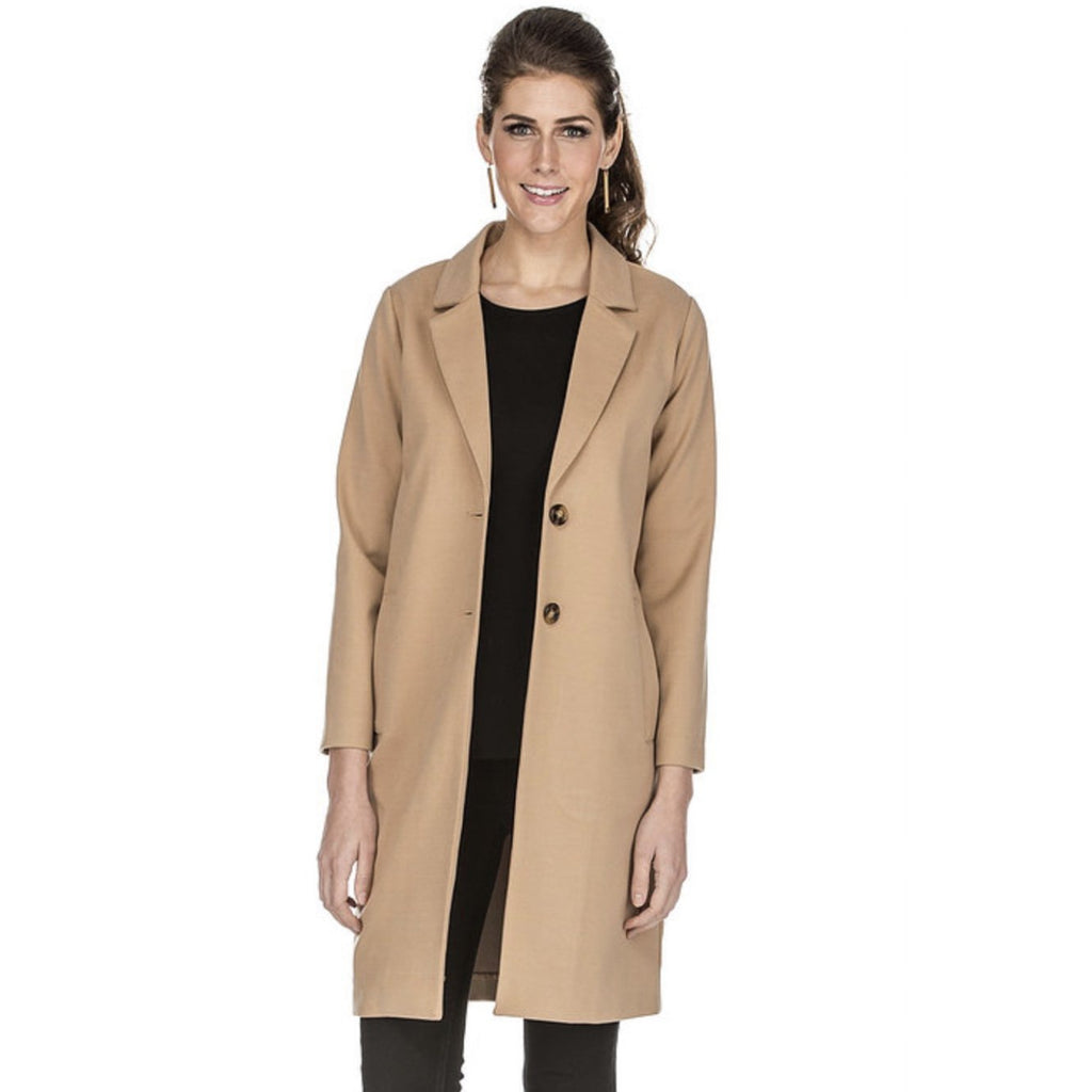 Jade - Button Down Coat - Camel