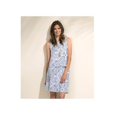 Hatley Roberta Dress in Blue Tiles