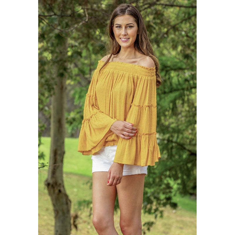 Joy Joy Off The Shoulder Top  *2 Colors
