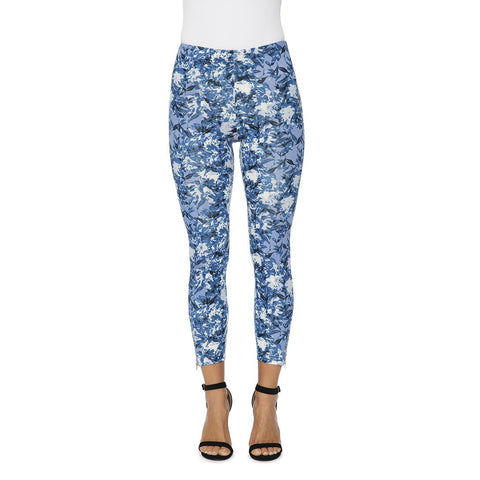 Krazy Larry Pull On Ankle Pants-Tropical