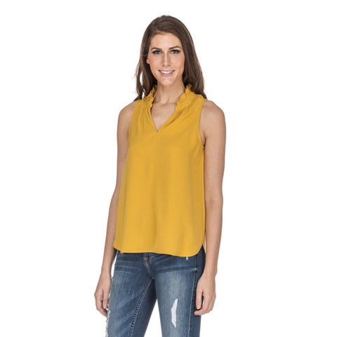 B Collection by Bobeau Aline Mock Neck Top
