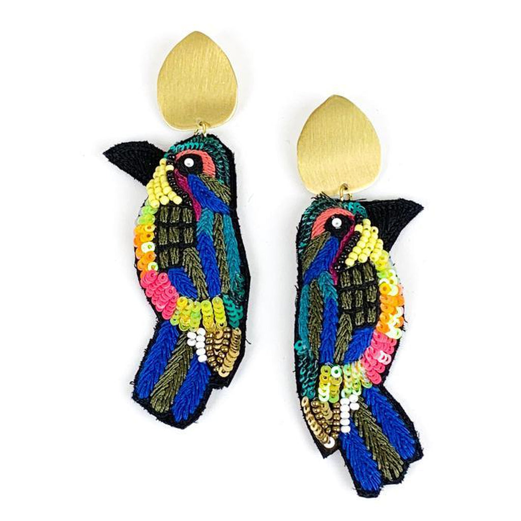 Allie Bead - Parrot Earrings