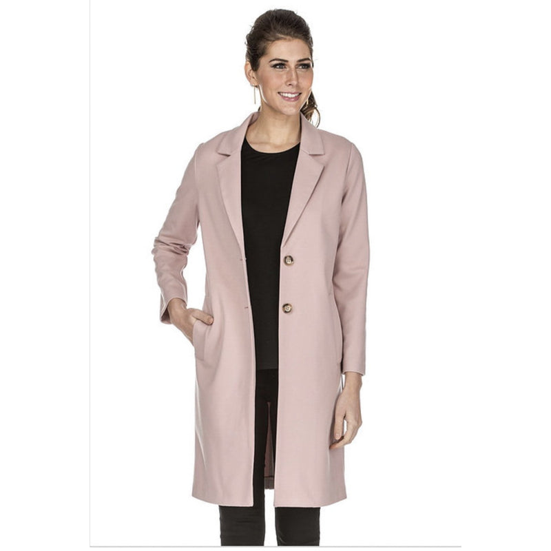 Jade Button Down Coat - Pink