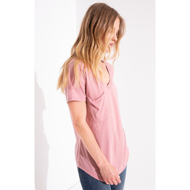 Z-Suppy Pink Ribbon Pocket Tee