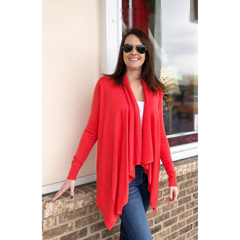Kerisma Nesse Cardi in Poppy Red