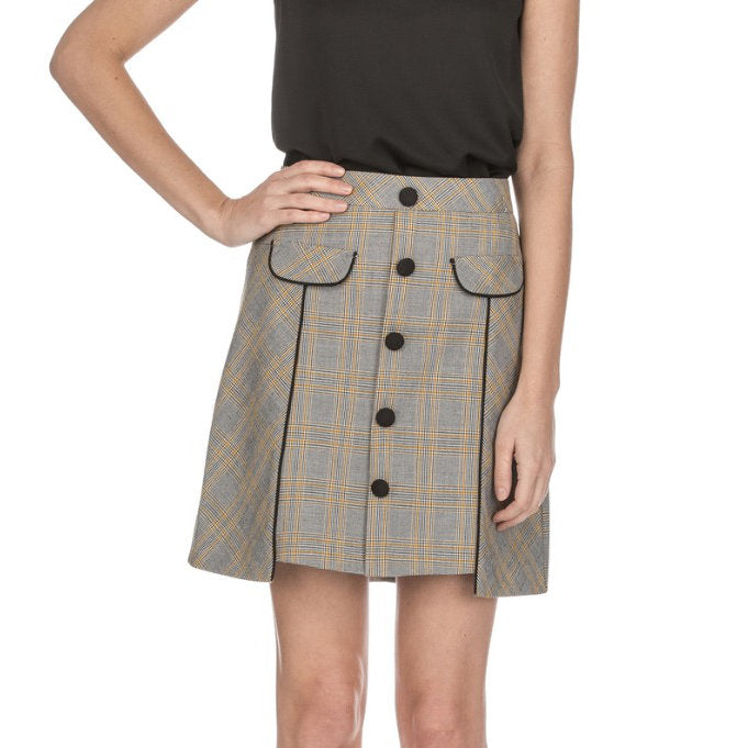 Jade Hound Plaid Skirt