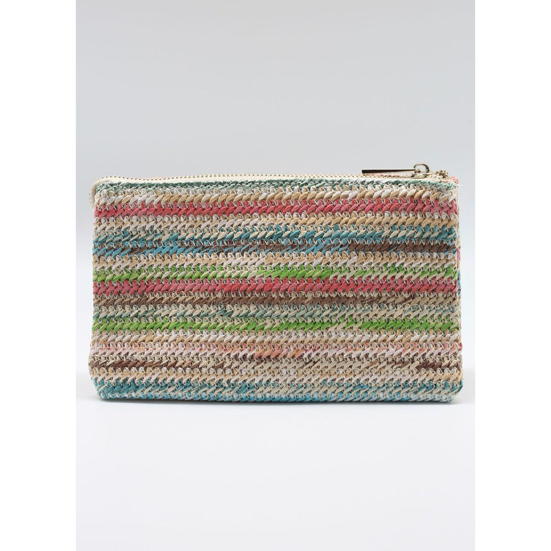 Crossbody - Straw Multi