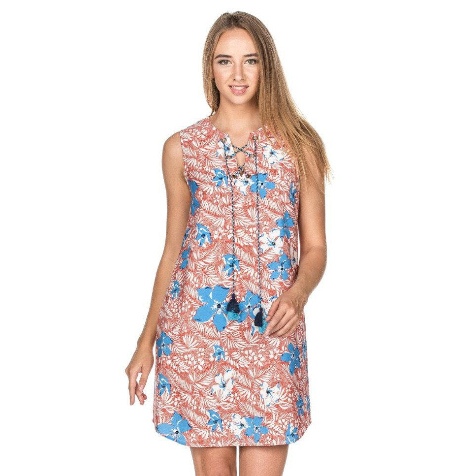 Joy Joy Tie Front Dress