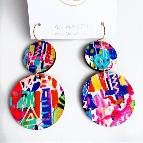 Audra Style - Wendy Peacock Earrings