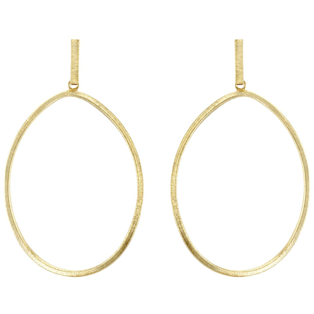 Shelia Fajl - Twisted Oval Hoops