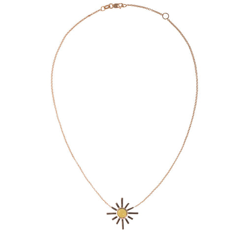 Yellow Tourmaline Sun Choker