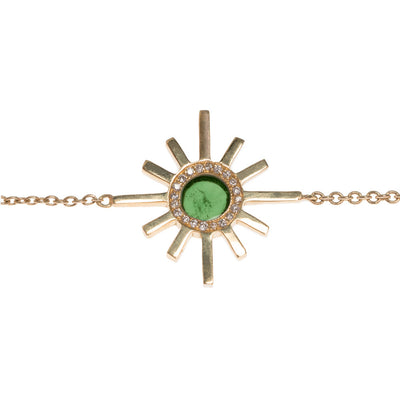 Green Tourmaline and Pave Diamond Reversible Necklace