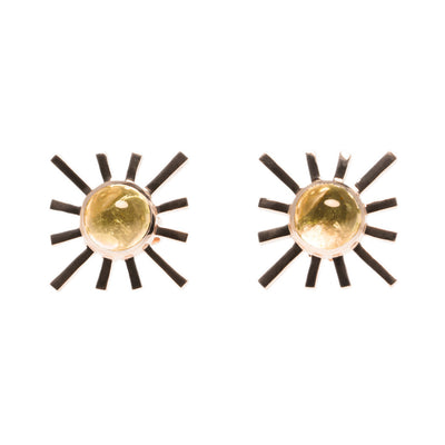 Yellow Tourmaline Single Sun Earring