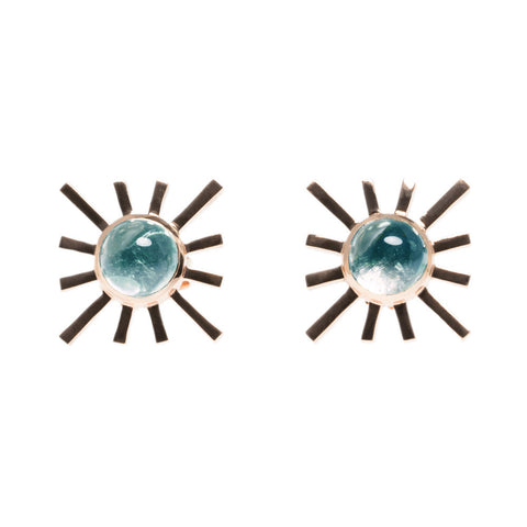 Amaya Jones Blue Tourmaline Single Sun Earring