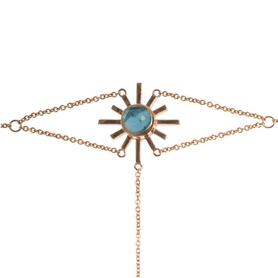 Amaya Jones Blue Tourmaline Sun Hand Chain