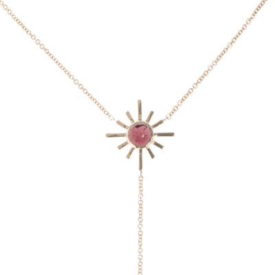 Pink Tourmaline and Pave Diamond Reversible Necklace