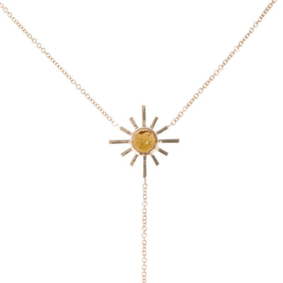 Yellow Tourmaline and Pave Diamond Reversible Necklace