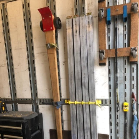 Yellow Rack holding load bars