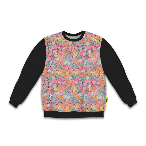Women's Blackout Hearct Candy Sweatshirt