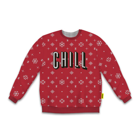 Netflix and Chill Crew Sweatshirt, Ugly Holiday Sweater Collection