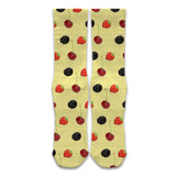 Polka What - Mid-Rise Socks - Berrybody Yellow