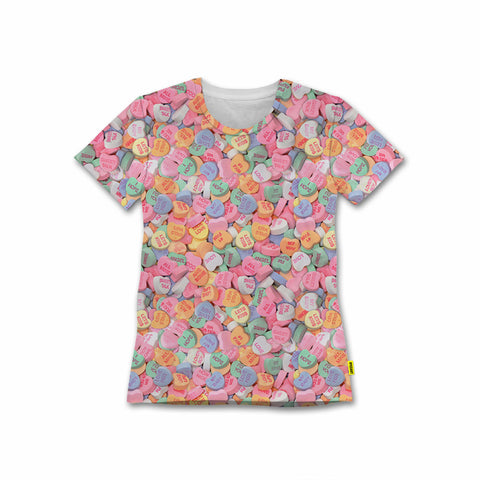 Valentine's Day - Women's Tee - Conversation Hearts