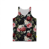Florals - Mens Tank - Dark Flowers