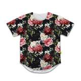 Florals - Scoop Neck Tshirt - Dark Flowers